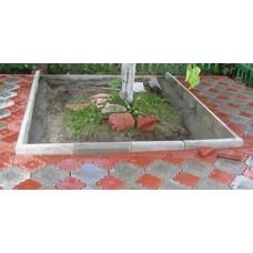 Бордюр садовый бетонный декоративный