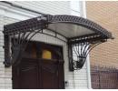 Кованые козырьки над крыльцом и навесы над входом