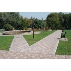 Тротуарная плитка вибролитая Чешуя