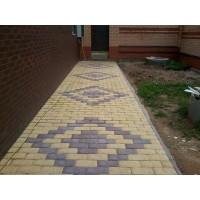 Тротуарная плитка вибролитая Брусчатка шагрень