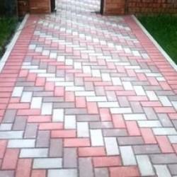 Тротуарная плитка вибролитая Брусчатка