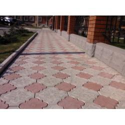 Тротуарная плитка вибролитая Клевер