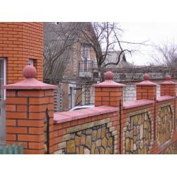 Крышки для заборов и столбов бетонные вибролитьевые