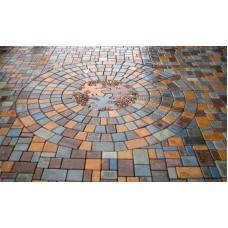 Тротуарная плитка вибролитая Римский брук трапеция