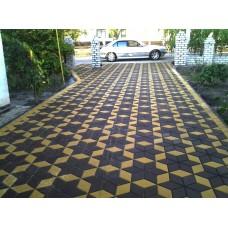 Тротуарная плитка вибролитая Ромб